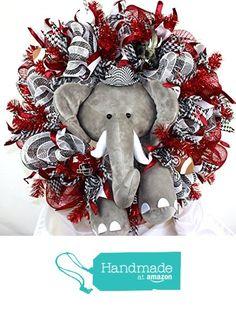 Alabama Crimson Tide Fan Deco Mesh Door Wreath Featuring Big Al from Crazyboutdeco Deco Mesh Wreaths,Cemetery Arrangements Deco Mesh Wreaths, Fall Wreaths, Door Wreaths, Christmas Wreaths, Burlap Wreaths, Ribbon Wreaths, Floral Wreaths, Grapevine Wreath, Christmas Tree