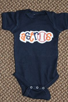 Houston Astros Baseball Onesie. $20.00, via Etsy. Houston needs this!