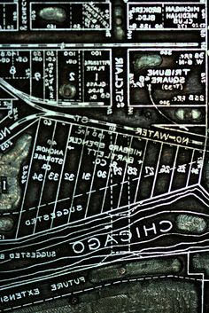 Old Printing Plate of Chicago Map by Russ Tomlin