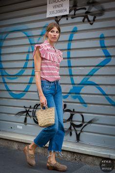 Veronika Heilbrunner after Prada fashion show. STYLE DU MONDE on Instagram @styledumonde, Pinterest, Twitter, Tumblr and Facebook