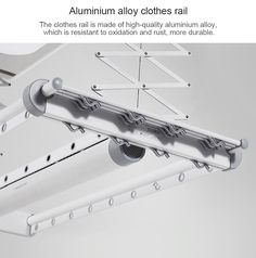 Smart Clothes Dryer from Xiaomi Youpin- White Clothes Rail, Clothes Dryer, Smart Outfit, Stainless Steel Kitchen, Aluminium Alloy, Laundry Room, Vacuums, Design