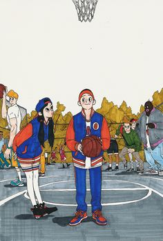 Basketball boy & girl - Kim Jungyoun