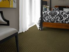Wall to wall patterned carpet