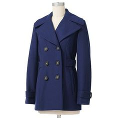 Apt. 9 Solid Wool Peacoat