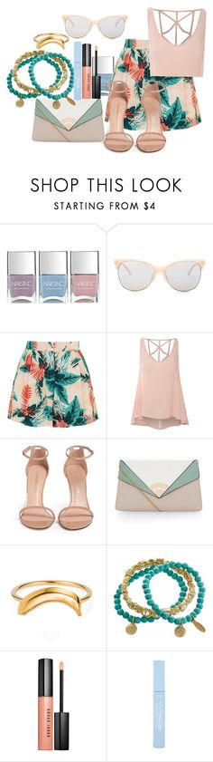 """""""Untitled #663"""" by amazing-crazy-love ❤ liked on Polyvore featuring Nails Inc., Smith Optics, Topshop, Glamorous, Stuart Weitzman, Lee Renee, Natasha Accessories and Bobbi Brown Cosmetics"""