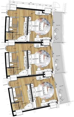 hotel floor plan hotel floor plan Be - hotel Apartment Layout, Apartment Plans, Apartment Design, Hotel Floor Plan, House Floor Plans, Design Hotel, Plano Hotel, Resort Plan, Black And White Furniture