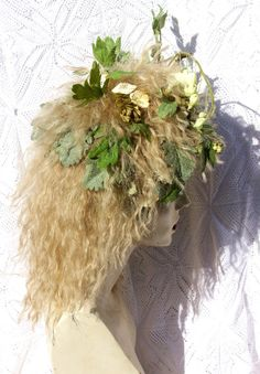 Woodland Nymph Feral Fairy Elf Full Wig hair by FeralFairies