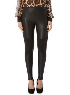 Kardashian black PU leggings