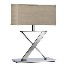 Cyan Design Lamps Xacto Table Lamp in Chrome and Tan - 2192