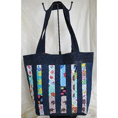 """** Handmade Jeans Bags **Items are handmade, unique, specially designed and made by me. Designs are available in one piece only. A special gifts for Yourself, Family, Friends, Love one…  New without Tags, """"Unused and Unworn Jean / Washable """" Overall in Good Condition""""Code : SWOL-B0006· Front : Patchwork Stripes design·Back : 2 separate open Pockets  ·Interior : Fabric Lining with 4 separate open Compartments·Closure : Fastener Tape                     ·Approx…"""