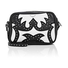 Zadig et Voltaire Women's Nash Extra-Small Boxy Crossbody Bag (705 RON) ❤ liked on Polyvore featuring bags, handbags, shoulder bags, strap purse, studded cross body purse, colorblock handbags, embellished purse and cross-body handbag