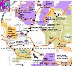 Map Of Utah Arizona.Pin By Chris Donahue On Bucketlist Destinations Utah Vacation