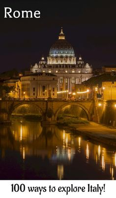 Rome: Evening view over St. Peter's Cathedral   Links to more than a 100 great travel guides for Italy!