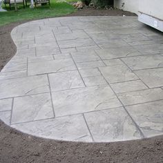 58 Ideas Cement Patio Steps Stamped Concrete For 2019 Diy Concrete Patio, Patio Diy, Concrete Patio Designs, Backyard Patio Designs, Patio Ideas, Pergola Ideas, Pergola Kits, Decorative Concrete, Concrete Patio Resurfacing