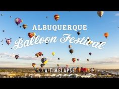 Can't take nine days off work to attend the world's largest hot air balloon festival? This very cool time lapse video of the event — the annual International Balloon Fiesta in Albuquerque, New Mexico — is a breathtaking alternative. Albuquerque Balloon Festival, Albuquerque Balloon Fiesta, Air Balloon Festival, Land Of Enchantment, Hot Air Balloon, Air Ballon, Adventure Is Out There, Ciel, Beautiful World