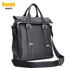 Aliexpress.com : Buy Vandd Men's Busienss Soft Genuine Leather Black Vertical Tote Handbag Messsenger With Buckled Strap Accent from Reliable messenger tote suppliers on Vandd Men. $91.00