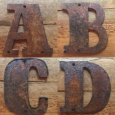 Rustic Tin Letters Rusty Tin Letters Free Shipping Monogram Rustic Letter Large