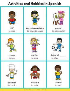 Spanish For Kids: Sports, Activities and Hobbies in Spanish - Bilingual Kidspot