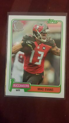 2015 Topps 60th Anniversary Mike Evans Tampa Bay Buccaneers in Sports Mem, Cards & Fan Shop, Cards, Football | eBay