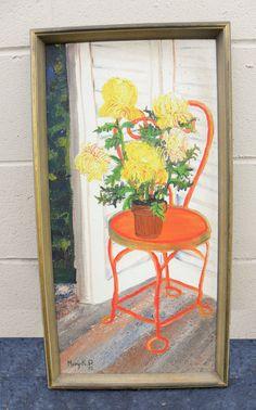 Chrysanthemums Flowers Peony Blossoms original by FieldsOfVintage