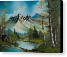 Mountain Retreat Canvas Print by C Steele.  All canvas prints are professionally printed, assembled, and shipped within 3 - 4 business days and delivered ready-to-hang on your wall. Choose from multiple print sizes, border colors, and canvas materials.