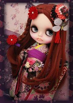 "OOAK Custom Blythe Art Doll ""Sayuri Kimono Girl"" ~ by Japanese Artisan | eBay"