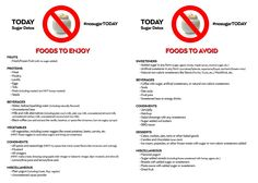 Your cheat sheet of foods you can enjoy (and those to avoid) on my 10-day Sugar Detox. #nosugarTODAY