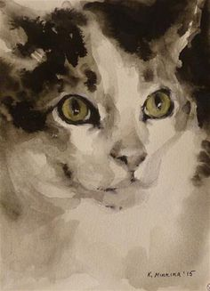 "Daily Paintworks - ""adopt65"" - Original Fine Art for Sale - © Katya Minkina"