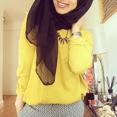 Yellow Blouse | Pattern Pant __ islamicfashion