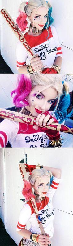 Maquillaje de Harley Quinn – Suicide Squad  #VoranaTips #Marvel #HarleyQuinn