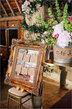 Fab idea for seating plan | table numbers | barn wedding | Vintage wedding