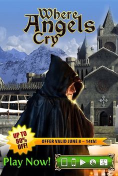 Announcing our fantastic Where Angels Cry SALE!  Step into summer with an unbeatable discount on Where Angels Cry, an exciting mix of classic adventure and hidden object fun! Through June 14th, get this gripping thriller at up to 80% off! Travel to a medieval monastery in the remote Alps and investigate the mysterious disappearance of monks!    Learn more: http://www.g5e.com/sale