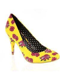 Iron Fist Yellow Scary Prairie Heel Womens Shoe