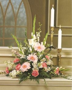 church wedding flower arrangements