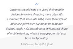 Mobile accessibility is now more important than ever. For more tips on Apple Pay and ecommerce, check out the BigCommerce blog!