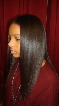 Chemically Relaxed Hair Perms And Relaxers Pinterest
