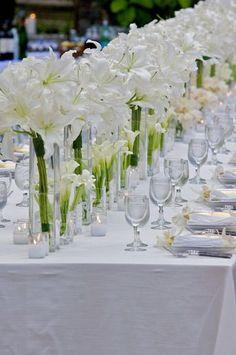 Best Wedding Reception Decoration Supplies - My Savvy Wedding Decor Lily Centerpieces, White Centerpiece, Wedding Centerpieces, Centrepieces, Decoration Evenementielle, Flower Decorations, Table Decorations, Wedding Reception Decorations, Wedding Table