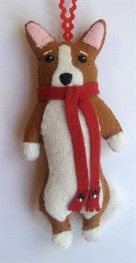 """Christmas Corgi"" by Cathy Santasiero - Media - Cloth Paper Scissors"