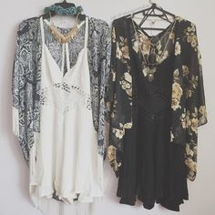 Summertime Rompers stylied with kimono's