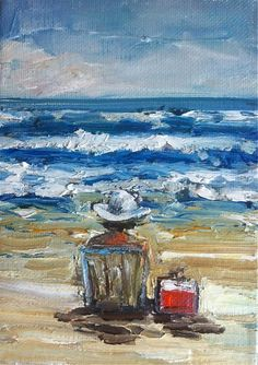 At the Beach  Print by DevinePaintings on Etsy, $14.00