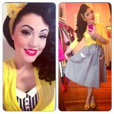 Pinup style outfit ootd thelittlequeenie tumblr