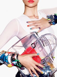 Power Point: Spring's Top Five Accessory and Nail Art Trends Spring Tops, Teen Vogue, Spring Trends, Furla, Party Fashion, Women's Accessories, Designer Handbags, Sexy, Nail Art