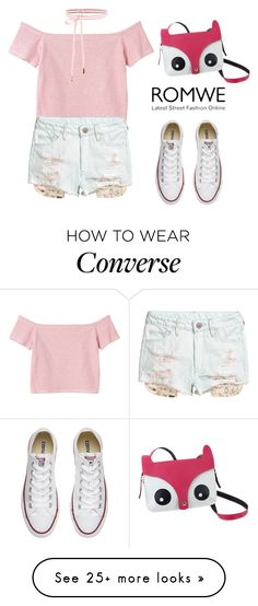 """""""ROMWE Bag"""" by tania-alves on Polyvore featuring Monki and Converse"""