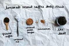 Homemade coconut coffee body scru