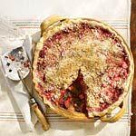 Raspberry-Rhubarb Pie Recipe | MyRecipes.com