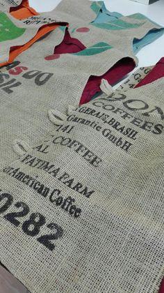 Kahvisäkistä valmistettu liivi #luomukahvisäkki