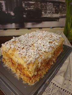 Greek Sweets, Greek Desserts, Party Desserts, Lasagna, Cake Recipes, Cooking Recipes, Ice Cream, Chocolate, Ethnic Recipes