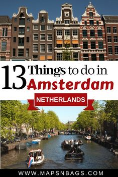 Top things to do in Amsterdam, the Netherlands! Read further to know how to experience the Dutch culture, food, and architecture! These are tips from a local, so enjoy! #Amsterdam #Itinerary #Netherlands #free #thingstodo #culture #food #Europe #Whattodo #trip #travel #canals #Bucketlist #Holland #RedLights #Unique #Summer #Winter