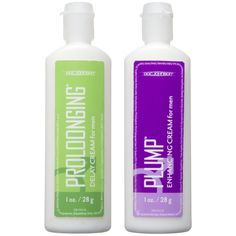 Get more banging for your buck with this travel friendly sexual enhancement kit! Doc Johnson's Proloonging + Plump for Men features a 1 ounce tube of delay cream and 1 ounces tube of enhancing cream. The delay cream, Proloonging, contains 7.5% Benzocaine which acts as a desensitizing agent that helps to extend love making sessions and prevent premature ejaculation; while the size enhancing cream, Plump, increases blood flow to the penis for a thicker, larger look and feel. Both formulas are…