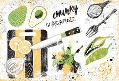 Chunky Guacamole Inky Card by Nelli Khatmoullina